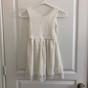 White Lace Girls Dress - H&M (8-10)
